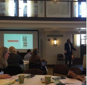 Joseph Strupek, Assistant VP of Public Affairs at State Farm, discusses storytelling at the PRSA Strategic Collaboration Conference