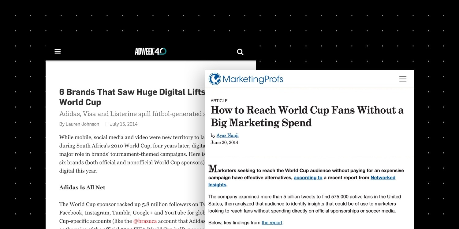 Networked Insights Adweek and MarketingProfs PR placements