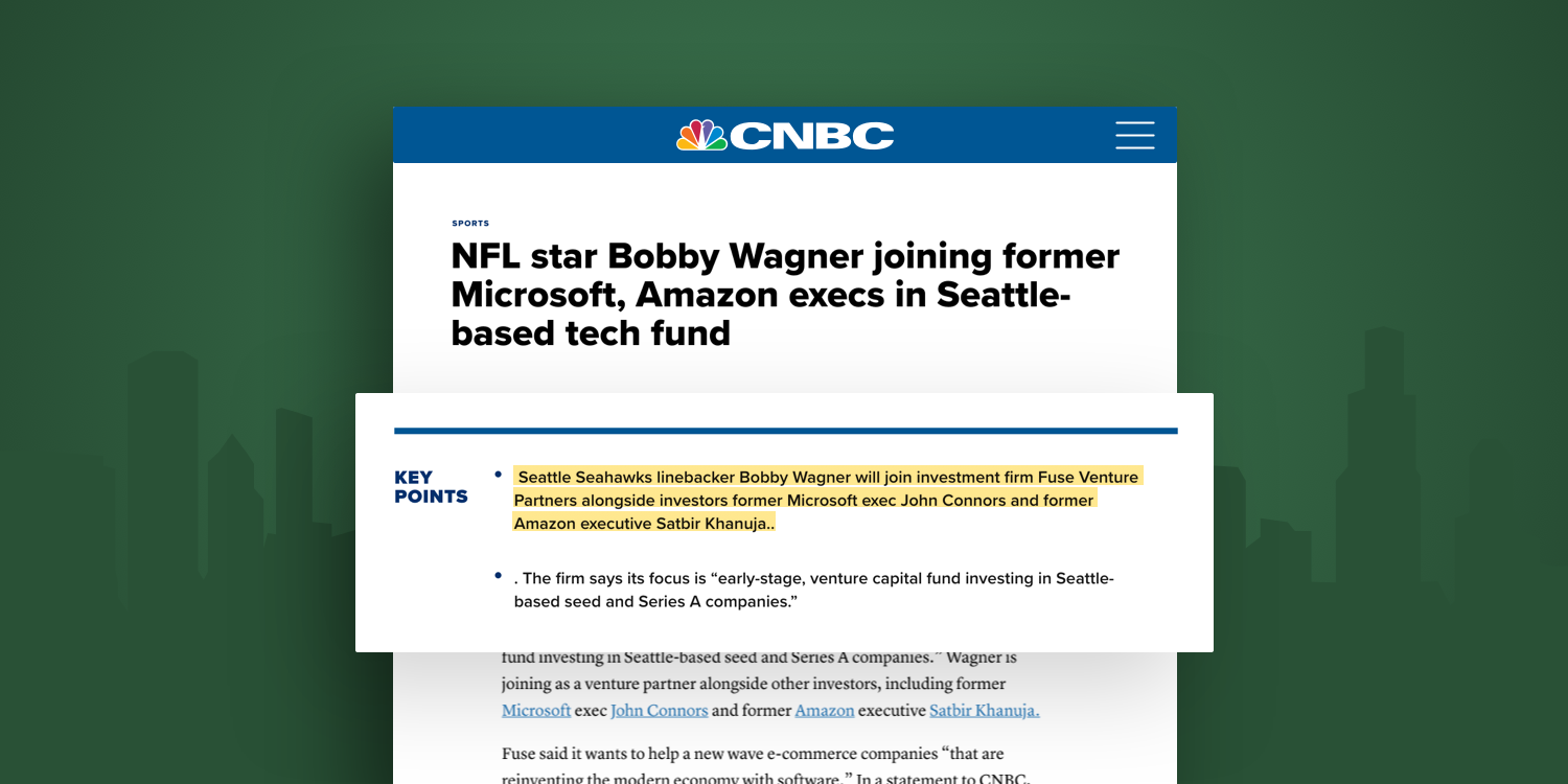 Mockup of CNBC placement for Fuse Venture Partners